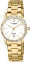 Citizen Women's Quartz Gold-Tone Stainless Steel Bracelet Watch 27mm