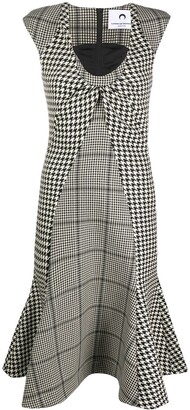 Marine Serre Houndstooth Print Dress