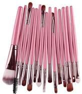 Becoler Store Becoler 15 PCS Makeup Foundation Eyebrow Eyeliner Blush Cosmetic Concealer Brushes Pink