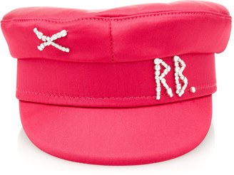 Ruslan Baginskiy Hats Crystal Satin Baker Boy Cap