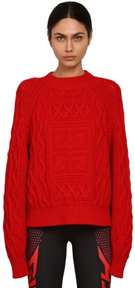 Givenchy Logo Cotton & Wool Blend Knit Sweater