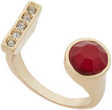 INC International Concepts Gold-Tone Stone and Pavé Bar Cuff Ring, Only at Macy's