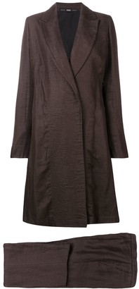 Gianfranco Ferré Pre-Owned 1990's Flared Coat & Trousers