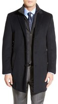 Hart Schaffner Marx 'Kingman' Classic Fit Wool Blend Coat with Removable Zipper Bib
