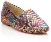 Alexandre Birman Rainbow Python Espadrille Flats