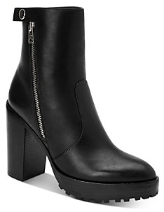 AllSaints Women's Ana Block Heel Ankle Booties
