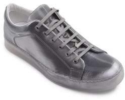 Lanvin Metallic Leather Low-Top Sneakers