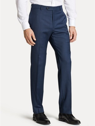 Tommy Hilfiger Regular Fit Suit Pant In Blue Sharkskin