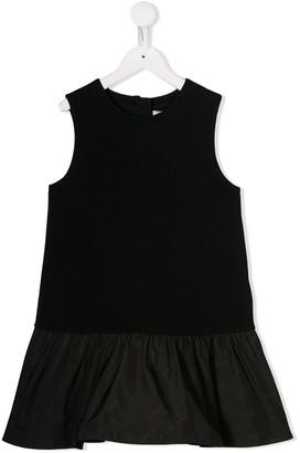 Moncler Enfant Ruffled-Hem Sleeveless Dress