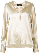 Alexandre Vauthier V-neck shirt - women - Silk - 34