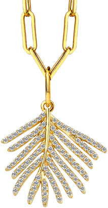 Syna 18k Diamond Palm Leaf Pendant Necklace