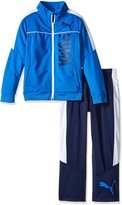 Puma Little Boys' 2 Piece Zip up Track Jacket and Pant Set