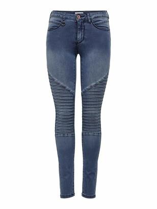 Only Women's Onlroyal Reg Skinny Biker Jeans Bj11503