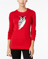 Charter Club Petite Owl Graphic Sweater, Only at Macy's