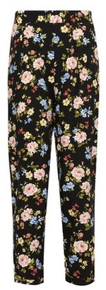 Dorothy Perkins Womens Dp Petite Black Floral Print Joggers, Black