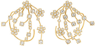 Panconesi Gold Crystal Kismet Earrings