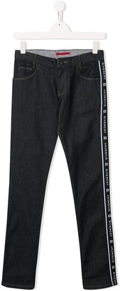 Givenchy Kids logo stripe jeans