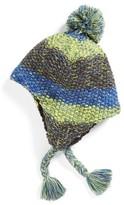 Capelli of New York Boy's Marled Earflap Beanie - Blue