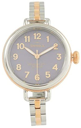 Shinola Detroit 34 mm Birdy 3H Watch (Lilac Mother-of-Pearl) Watches