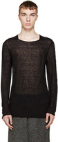 Damir Doma Black Mohair Kasti Sweater