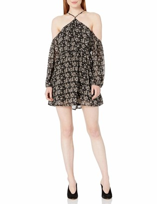 Lucca Couture Women's Baxter Cold Shoulder Print Dress