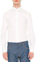 Valentino Solid Long-Sleeve Shirt, White
