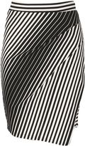 Izabel London Stripe Spin Mini Skirt