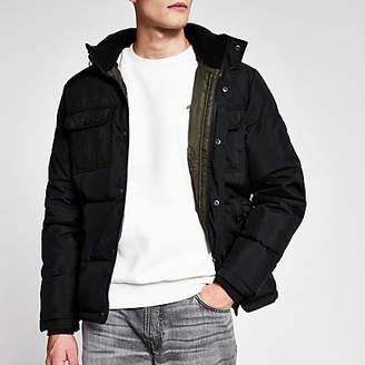 Jack and Jones black padded jacket