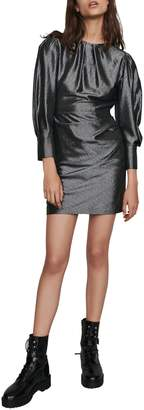 Maje Ralery Metallic Mini Dress