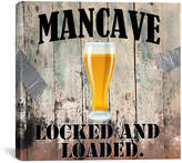 """iCanvas Mancave III"""" by Mindy Sommers Vintage Advertisement on Canvas"""