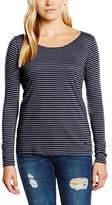 Tom Tailor Women's Long Sleeve Long-Sleeved Shirt - Blue -
