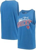 G Iii Men's G-III Sports by Carl Banks Heathered Blue New York Knicks Rival Tank Top