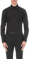 Alexander McQueen Frayed harness detail slim-fit cotton shirt