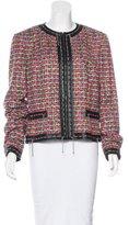 Escada Chain-Embellished Tweed Jacket w/ Tags
