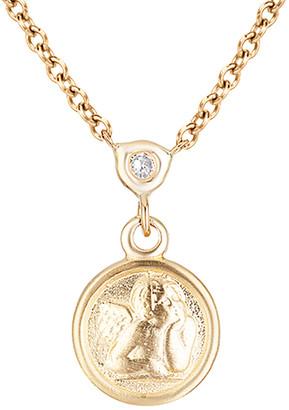 Ariana Rabbani 14K Diamond Cherub Necklace
