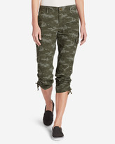 Eddie Bauer Women's Adventurer® Stretch Ripstop Cropped Cargo Pants - Camo - Slightly Curvy