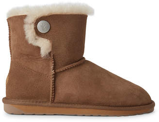 Emu Chestnut Ora Shearling-Lined Suede Boots