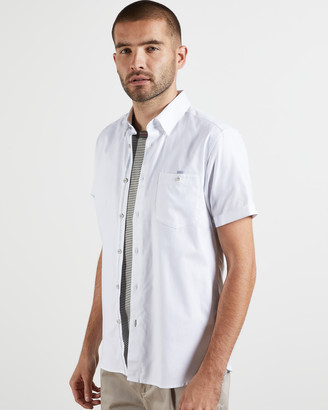 Ted Baker YESSO Cotton Oxford short-sleeved shirt