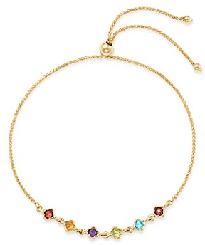 Bloomingdale's Multi-Gemstone Mini Clover Bolo Bracelet in 14K Yellow Gold - 100% Exclusive