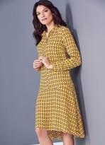 Kaleidoscope Drop Waist Shirt Dress