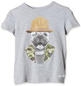 Japan Rags Boy's Printed T-Shirt - Grey -