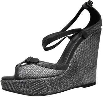 Burberry Blue Cloth Sandals