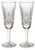 Waterford Lismore Crystal Champagne Flutes/Set Of 2