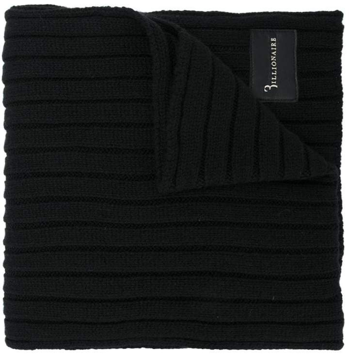 Billionaire ribbed knit scarf