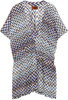 Missoni Metallic Crochet-knit Kaftan - Purple