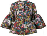 Marques Almeida Marques'almeida - floral brocade jacket with cropped sleeves - women - Polyester/Acetate/Cupro - M