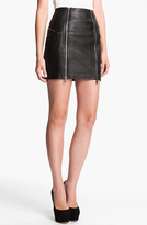 McQ by Alexander McQueen Double Zip Leather Skirt
