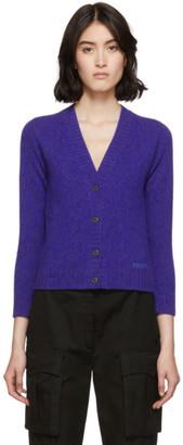 Prada Purple Wool Cropped Cardigan