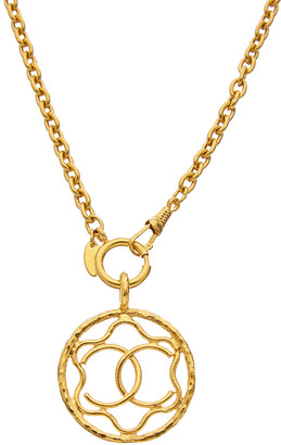 Chanel Gold-Tone Squiggle Cc Necklace