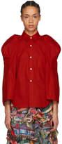 Comme des Garcons Red Sculptural Sleeve Shirt